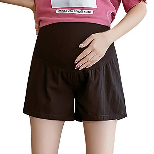Clacce Umstands-Shorts Damen Shorts Saint Tropez Umstandsbadeshorts Mutterschaft Sommer Workout Loose Fit Stretchy niedrige Taille Kurze Hosen (Zum Schlafen Regeln 10)