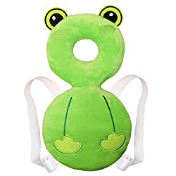 Soft Cartoon Headrest Baby Infant Stroller Seat Covers Car Sleeping Pillow( Green)