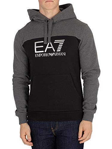 df3060042e1d Emporio Armani Mens EA7 Mens Train Tritonal Hoody in Black - S