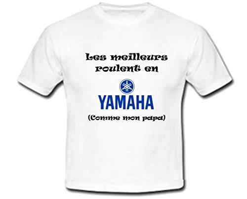 GRAVOPHOTO Tshirt Personnalisé - les Meilleurs roulent en Yamaha Taille 2 à 14 Ans