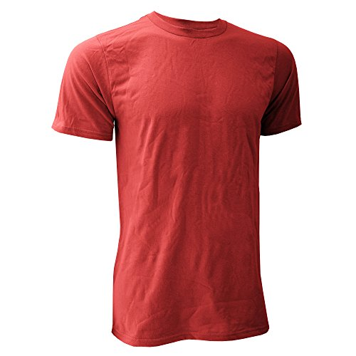 Anvil - Camiseta básica orgánica de manga corta para hombre- 100% Algodón orgánico Certificado (2XL/Rojo)