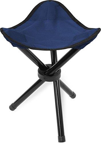 Rucksack Klappstuhl (1,2,5 oder 10 Mini Anglerstühle Anglerstuhl Faltstuhl Falthocker Dreibeinhocker - super Klapphocker für den Rucksack Farbe Blau Größe 1 Stück)