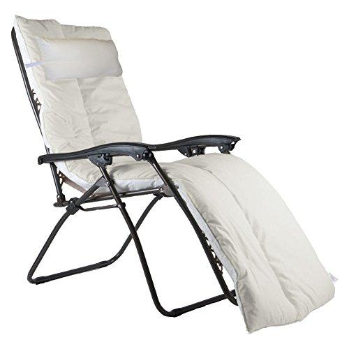 UK Care Direct de Luxe Coussin de Chaise Longue Décoration pour Résistant à L'eau pour Fauteuil inclinable de Jardin Terrasse, Fabriquée au Royaume-Uni Aqua