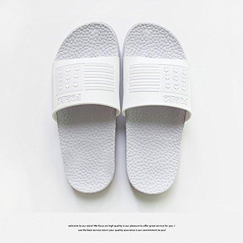 DogHaccd pantofole,Home estate coppie raffreddare bagno pantofole, arredamento bagno antiscivolo pantofole inferiore maschio Viola chiaro1