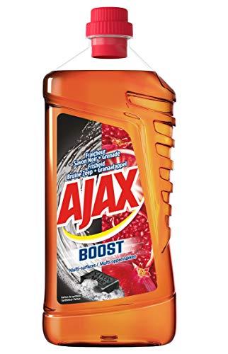 Frische Minze Gel (Ajax Boost Frische Seife, Schwarz/Granatapfelform, Mehrflächig, 1,25 l, 4 Stück)