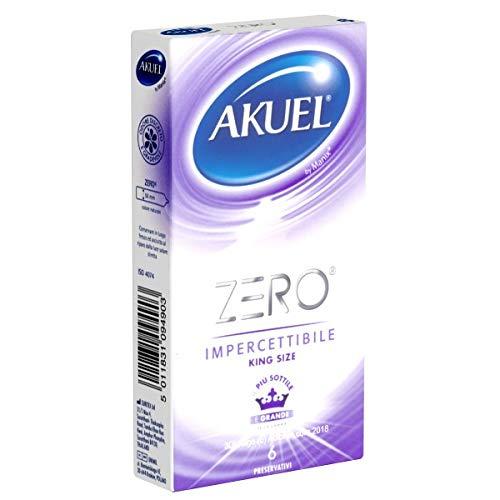 Akuel ZERO King Size - 6 condones - finos: 0