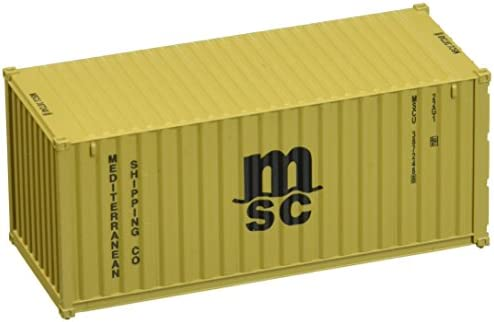 Walthers SceneMaster RS MSC BRN Container, 20' | Bradées