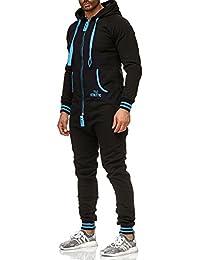 Tazzio Herren Jumpsuit Jogging Anzug Trainingsanzug Einteiler Overall 18700 13d31d2e09