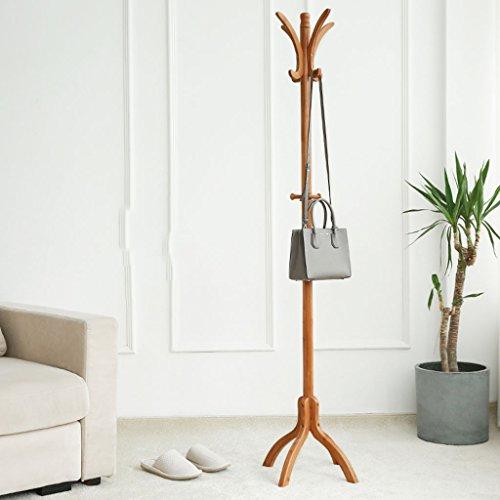LYM Stehender Huthänger Coats Hut-Zahnstange Bambusstehender Zahnstangen-, Hall-Baum mit 7Hooks Ausstellungsstand Einfacher Zusammenbau der Mantel-Regale ( Farbe : A , größe : 178*40CM )