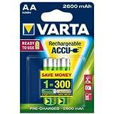 Varta Batterie rechargeable AA Mignon 22600mAh (Protection contre la décharge)