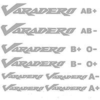 Kit loghi Varadero & gruppi sanguigni Argento