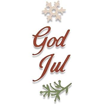 Frohe Weihnachten Norwegisch.Sizzix Thinlits Stanzen Set 4 Stück God Jul Fröhliche Weihnachten Auf Schwedisch Norwegisch Steel Multicolour 17 7 X 9 3 X 0 2 Cm