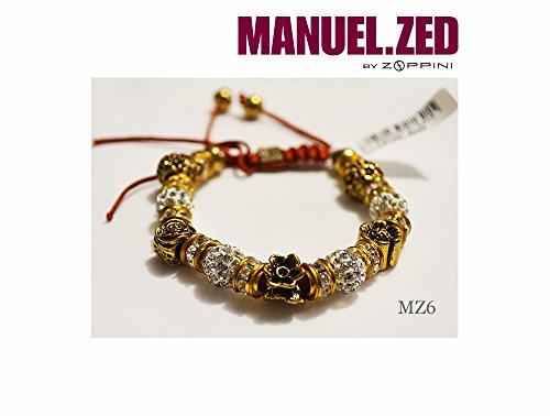 Bracciale Manuel Zed | Collezione Bijoux | cotone | bronzo e Cordino | Zoppini