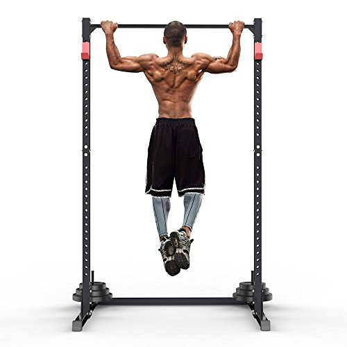 Yaheetech Gym Master Adjustable Squat Rack Power Cage   Pull Up Bar  Exercise Stand Bench Press 95eb9f8a453
