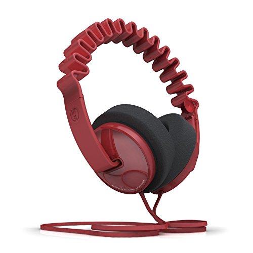 InnoDevice WV100070 InnoWave Plus Over Ear Designer Kopfhörer rot