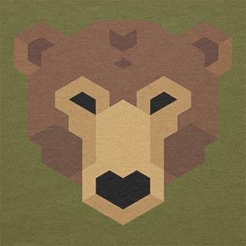 TEXLAB - Simple Bear - Herren T-Shirt Oliv