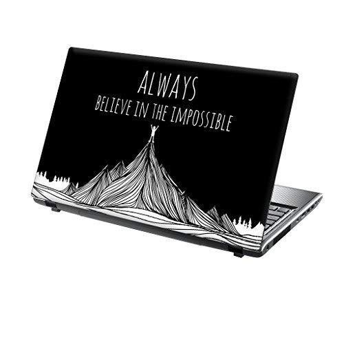 TaylorHe 39,6cm 38,1cm Notebook Skin Vinyl Aufkleber mit farbigen Mustern und Leder Effekt Laminat Believe in Impossible