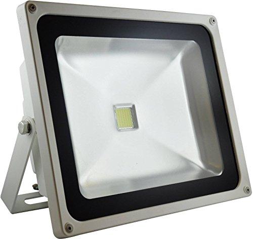 DIODOR Projecteur LED Diodor 50 W, Blanc chaud IP65, boîtier blanc de Dio fl50 N W