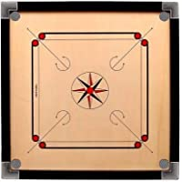 Jackon Carrom Board (20 inch X 20 Inch) with Coins Striker and Boric Powder for Kids and Children