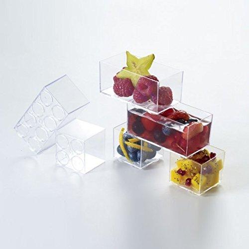 Plastella 052475 Vaisselle, PS, Cristal, 4,3 x 4,3 x 4 cm