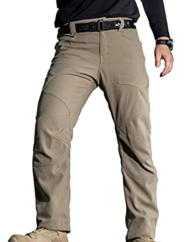 gratuit Soldat d'extérieur pour homme Sports Pantalon résistant aux rayures et pantalon en nylon résistant à l'eau et multiples poches XXL Mud Color