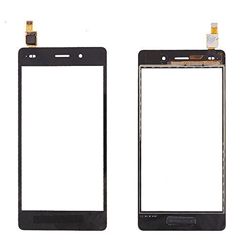 Huawei P8 Lite Front Screen Outer Glass [Schwarz] Frontglas Glas Display-Glas Screen Ersatzdisplay Displayglass Frontglas -