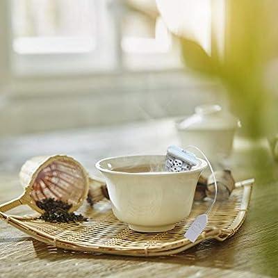 Parfaites boules à thé passoires à thé Infuseur à thé en silicone réutilisable à tête perforée Forme de la crépine à thé Diffuseur à épices Équipement de filtre innovant pour l'eau, le thé Accessoires