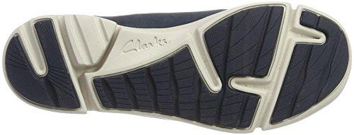 Clarks Tri Bella, Scarpe da Ginnastica Basse Donna Blu (Navy Combi)
