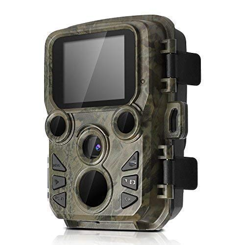 BYbrutek Mini Trail Kameras mit Nachtsicht, 12 MP, 1080P HD Jagdspielkamera, 0,45 S bewegungsaktivierte Wildkameras, 2 Stück 850 NM IR LEDs Reichweite bis zu 65 m, IP66 wasserdicht 850 Nm Led