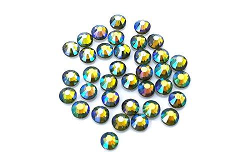 Grandi dimensioni, 1440 x 6,5 mm) (ss30 Factory Direct eimass® Hot Fix posteriore DMC-Piatto in vetro con varietà di cristallo di rocca, cristalli, pietre, con diamanti, (Olivine AB),