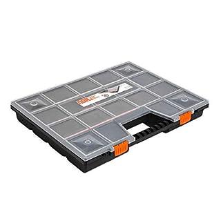 großer Organizer 20 Zoll Sortimentskasten 490x390x65 mm Unterteilung 9 x 9 cm flexibel