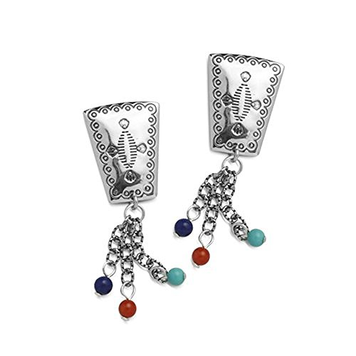 sterling-silver-lapis-turquoise-red-sea-bamboo-trapezoid-dangle-earrings