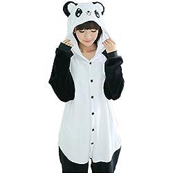 IFLIFE Kigurumi Pijamas Traje Disfraz Animal Adulto Halloween Cosplay L(Para Altura:169-178cm), Lindo panda