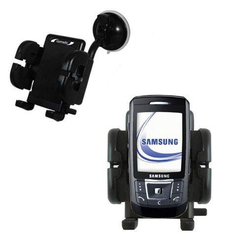 Windschutzscheibenhalterung für das Samsung SGH-D870 - Schwanenhals mit Saughalterung und Cradle