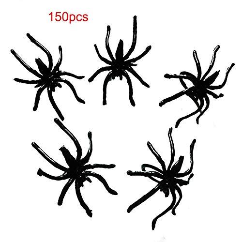 nststoff Schwarze Spinne Ring Bulk Halloween Spielzeug Kostüm Zubehör Schmuck Insektenring Lange Beine Spinnen Party Gastgeschenke Dekoration ()
