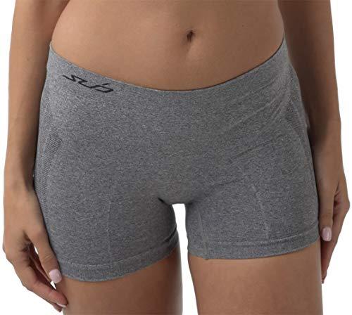 AIR Damen Nahtlose Boy-Shorts - Grau-meliert - Large