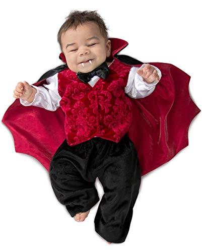 Horror-Shop Dracula Vampir Babykostüm als Blutsauger Halloween Verkleidung 3-6 Monate