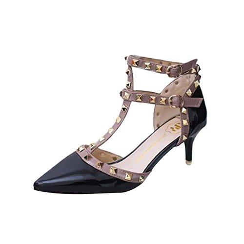 YIBLBOX Damen Niets Ankle Strap Stilett Partyschuhe Schuhe High Heels Kleid-Partei Pumps Sandalen Ankle-strap High Heel Pumps