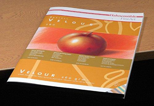 Pastellpapier Velour Block 10Farben 260g/m², 24x32cm, 10Blatt
