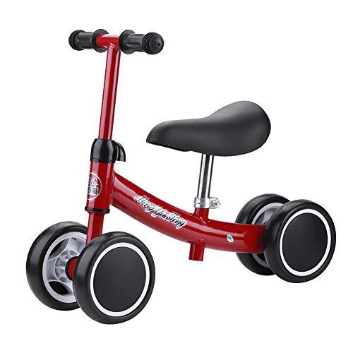 Cocoarm Kinder Laufrad Spielzeug Kleinkind Dreiräder Balance Roller Balance Training Mini Bike Erst Fahrrad für Jungen Mädchen 1-2 Jahre Alt (Rot)