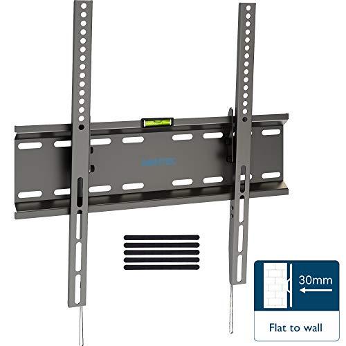 Bontec staffa tv inclinabile, ultra sottile supporto da parete per tv al plasma led lcd 23-55