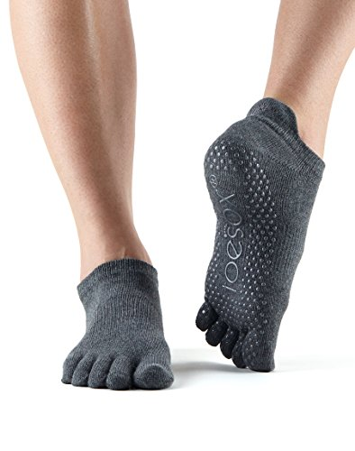 Toe Sox Ytoewtlrcharm Yoga E Pilates Unisex - Adulto, Charcoal Grey, Medium