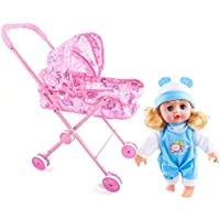 TODAYTOP - Muñeca de Carrito de Juguete para niños al Aire Libre, Cochecito de bebé