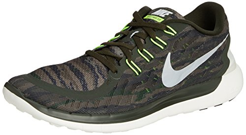 Nike Free 5.0 Print, Chaussures de Running homme Sequoia/Summit White/Turbo Green/Crystal Green