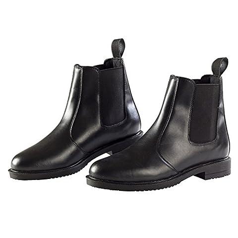 Ekkia Horse Riding Equi Leather Adults Jodhpur Boot Black Size 10