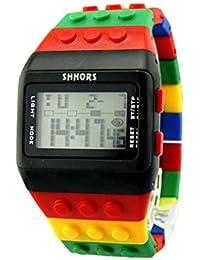 Reloj de pulsera de multifuncion de color - SHHORS Reloj de pulsera de nino LED impermeable