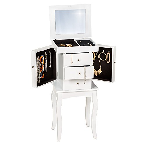 tectake-jewelry-cabinet-with-mirror-white