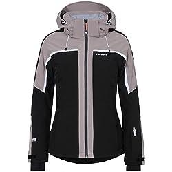 NANCIA by ICEPEAK | Women's Ski Jacket , Version:Standard, Taille:42, Qualité:535, Couleur des parents:Noir, Couleur:Schwarz