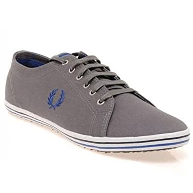 Fred Perry Kingston Twill Tipped Grey Mens Trainers Size 47 EU