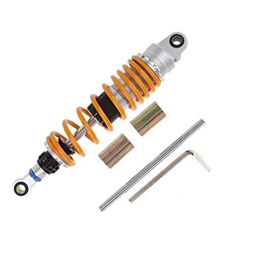 B Baosity Motorrad Stoßdämpfer Hinten für Universal Motorräder 320mm / 330mm / 340mm / 350mm / 360mm - Orange OLS-330